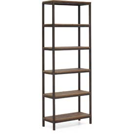 "Zuo Modern Mission Bay Tall 6 Level Shelf, 86-3/5""H x 31-1/2""W x 13-4/5""D, Fir Wood Construction"