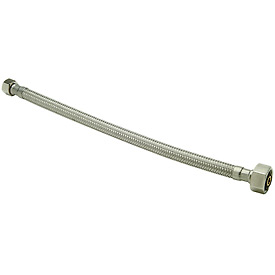 Zurn Z8862-XL-16-SS Faucet Supply Hose 1/2 In. Compression X 1/2 In. F.I.P X 16 In. - Lead Free
