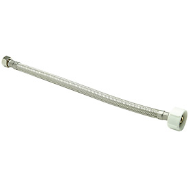Zurn Z8870-XL-12-SS Toilet Supply 3/8 In. Compression X 7/8 In. Ballcock X 12 In. - Braided SS