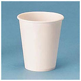 White Paper Water Cups, 4 Oz. Size, 100 Cups/Bag, 50 Bags/Carton