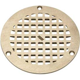 "Zurn 5"" Dia. Round Floor Drain W/Screws, Nickel"