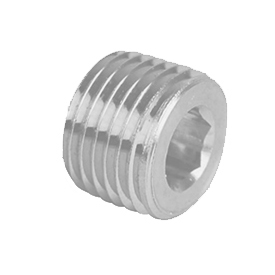 General Plug & Manufacturing Hex Socket Plug 150# Zinc - 1/8'' - Pkg Qty 100