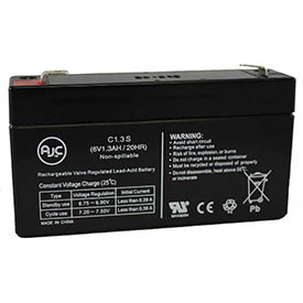 AJC® Brand Replacement Medical Batteries 6 Volts 1.2 to 1.3 Amps
