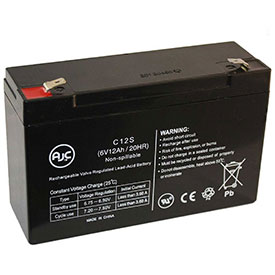 AJC® Brand Replacement Medical Batteries 6 Volts 12 Amps