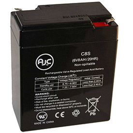 AJC® Brand Replacement Home Alarm Batteries 6V 8 -12 Amps