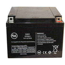 AJC® Brand Replacement Scooter Batteries 12v 24 Amps