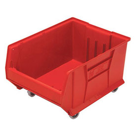 Quantum Mobile Hulk Plastic Stackable Storage Bin QUS965MOB 18-1/4 x 23-7/8 x 12 Red