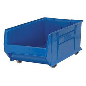 Quantum Mobile Hulk Plastic Stackable Storage Bin QUS985MOB 18-1/4 x 29-7/8 x 12 Blue