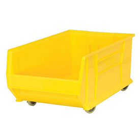 Quantum Mobile Hulk Plastic Stackable Storage Bin QUS985MOB 18-1/4x29-7/8x12 Yellow
