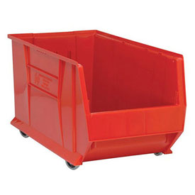 Quantum Mobile Hulk Plastic Stackable Storage Bin QUS986MOB 16-1/2 x 29-7/8 x 15 Red
